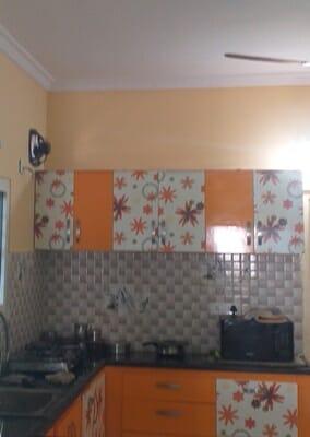 Orange Kitchen Wall