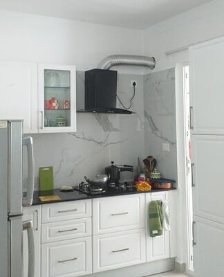 Clean and White Kitchen Area