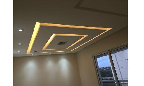 Simple Square Patterned False Ceiling