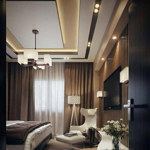 Elegant Rectangular Fall Ceiling