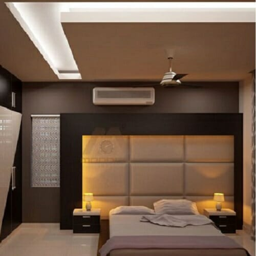 Modern Rectangular False Ceiling For Bedroom